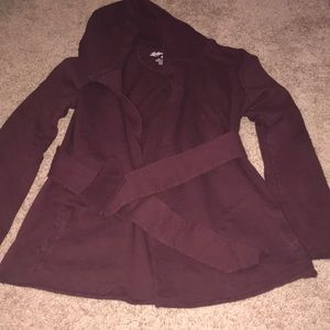 NWOT Lucky Brand tie front sweater jacket